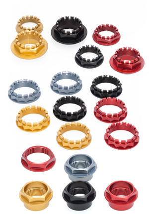 CNC Ergal Wheel Nuts for Ducati.