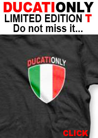 Ducati T Shirt, GET YOUR DUCATIONLY T SHIRT HERE. LIMITED NUMBER AVAILABLE.
